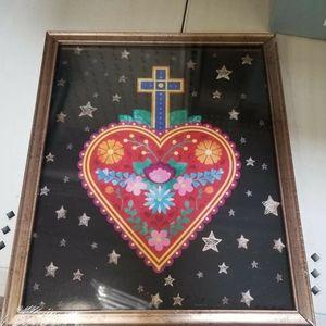 Sacred Heart Image on a Frame